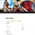 Details of an order paid in Euro
