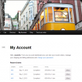 Account page, showing orders paid in different currencies