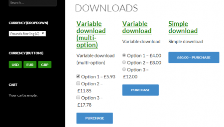 Currency Switcher for Easy Digital Downloads - Product prices in GBP