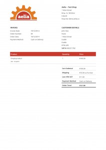 Sample PDF Invoice - Original