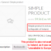 Prices by Country - Simple product not available