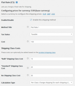 WooCommerce 2.6 - Flat Rate Shipping, Instance 1