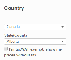 Tax Display by Country for WooCommerce - Country selector widget with County/Province/State support
